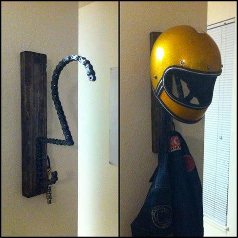 Motorcycle Helmet Shelf by Motorcycle Helmet Key And Coat Rack 150 00 Via Etsy