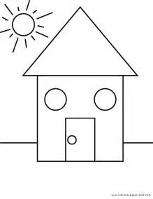 shape house shape color pages coloring pages for educational
