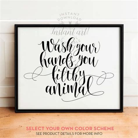 printable bathroom quotes wash your hands sign printable art bathroom prints