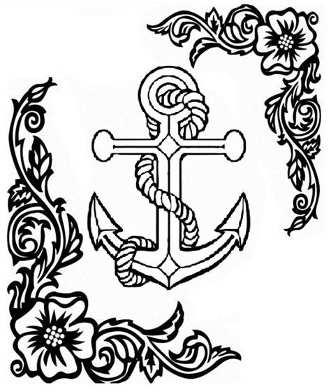 anchor coloring page coloring pages for adults