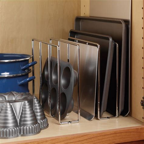 cookie sheet storage cabinet store your baking sheets and trays in this baking rack