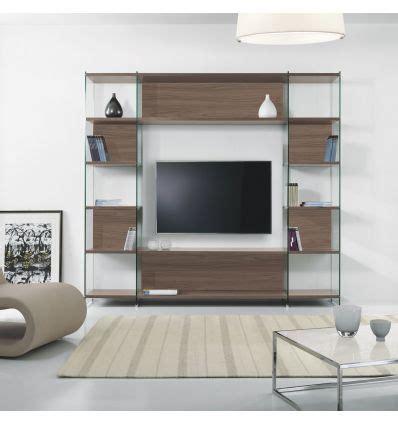 librerie porta tv libreria porta tv da salotto in laminato e vetro 220 x 200