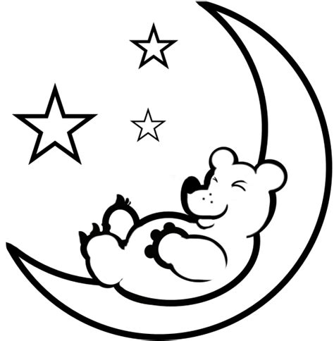 moon bear coloring pages free printable moon coloring pages for kids best