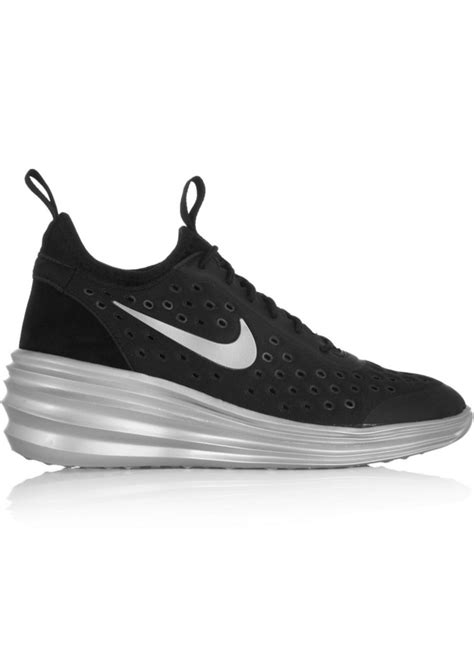 nike wedge sneakers sale nike nike lunarelite sky hi canvas and suede wedge