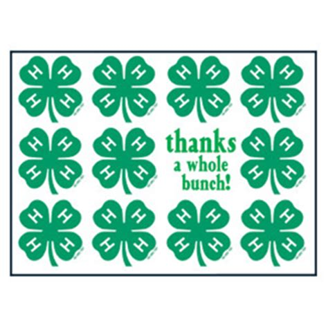 4 hmall org product 4 h clover emblem thank you cards box 8