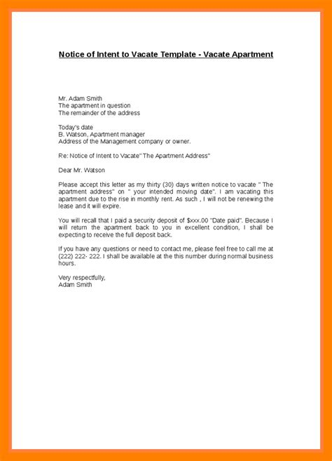 30 Day Moving Notice Letter by 30 Day Moving Notice Letters Botbuzz Co