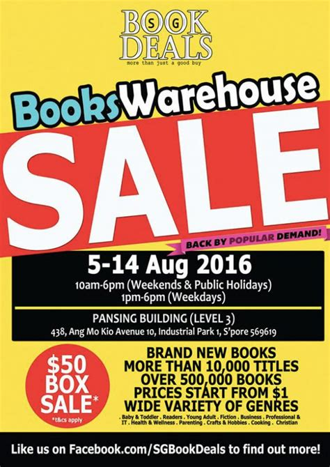 new year 2016 singapore offers sg books deals warehouse sale returns in august along with
