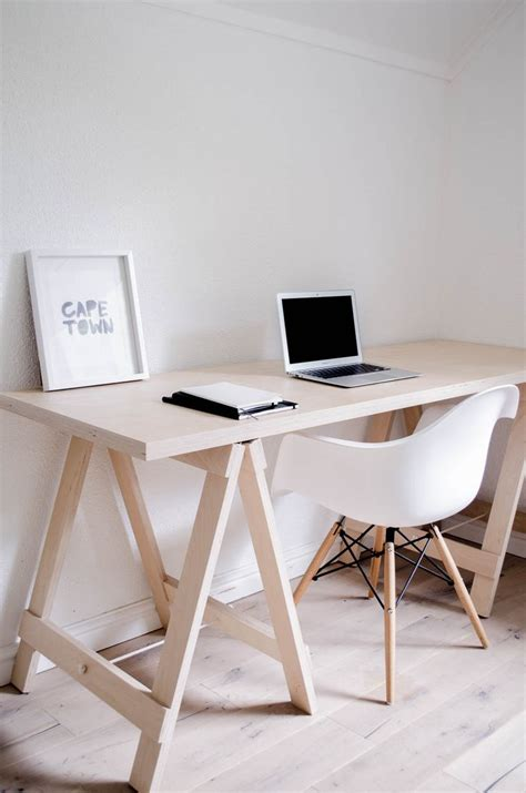 Diy Trestle Desk Best 25 Plywood Desk Ideas On Build A Custom Couches And Window Desk