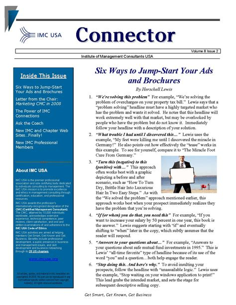 newsletter template email marketing boiler plate newsletters free newsletter