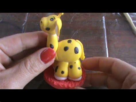 como hacer una jirafa en plastilina tutorial de como hacer una jirafa en porcelana fria youtube