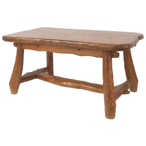 rustic adirondack style chipped pine dining table