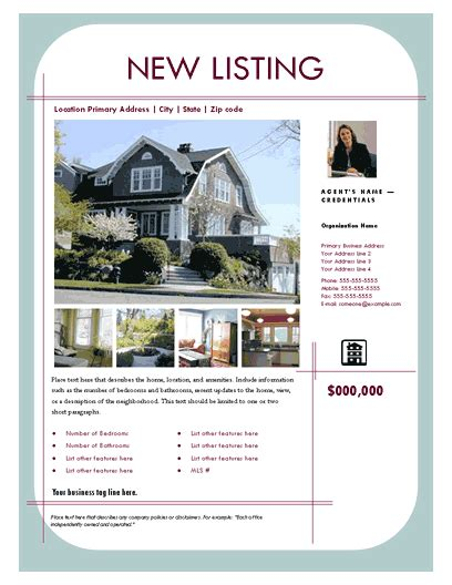 real estate listing flyer template flyers templates new listing flyer contemporary design 2