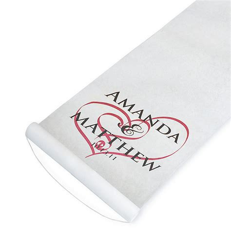 Signature Wedding Aisle Runners by Aisle Runners Wedding Aisle Runner The Knot Shop