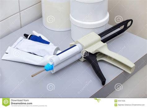 Silicone Gun Tebal Soligen dental dispensing gun stock photo image 63377535