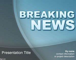 news powerpoint template breaking news powerpoint template