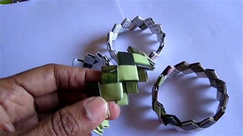 How To Make A Paper Bracelet - handmade paper bracelet