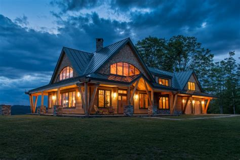 post house night pasture farm chelsea vt modern timber home