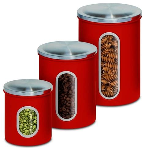 contemporary kitchen canisters kitchen canister set set of 3 contemporary kitchen