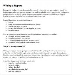 template on how to write a report sle report writing format 6 free documents in pdf
