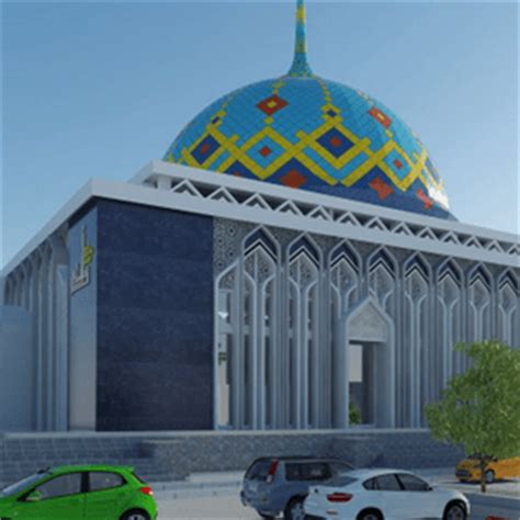 Kubah Panel Enamel kontraktor kubah masjid langsung produsen proses cepat