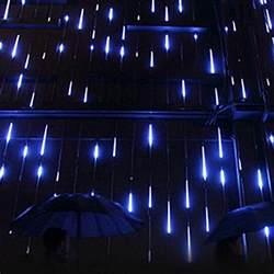 surlight led falling rain lights with 30cm 8 tube 144 leds