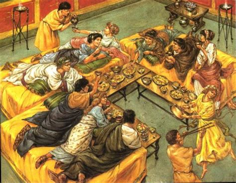 banchetti antica roma food feasts in ancient rome www historynotes info