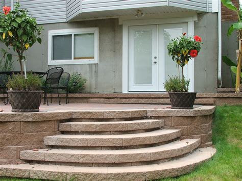 Curved Patio - curved steps to paver patio yeah i did that agape