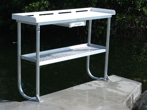 aluminum fish cleaning table fish cleaning table marine construction