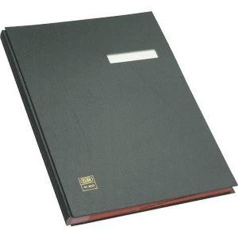 Elba Signature Book A4 E41403 elba 41403 signature book 20 compartments pvc cover black