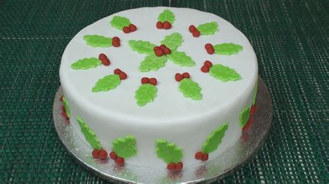 how to make a christmas cake part 4 icing decorating