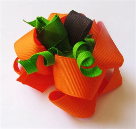 ribbon sculpture on pinterest boutique bows boutique pumpkin double layer twisted boutique bow ribbon