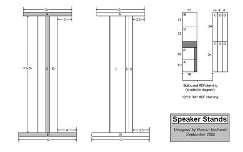 diy bookshelf speaker stand plans plans free