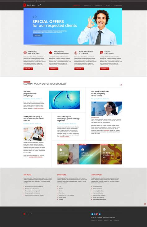 management company joomla template 44018