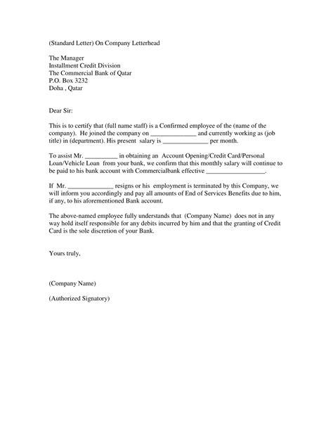 employment verification letter examples