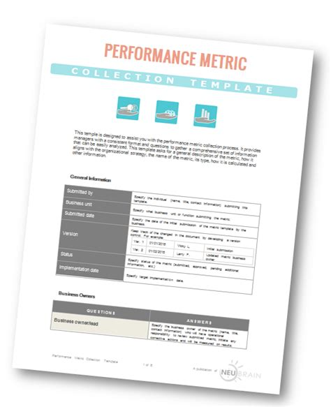 performance metrics collection template