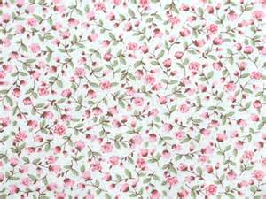 pure cotton fabric pink flower floral spot shabby chic