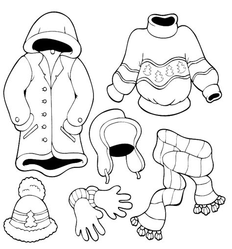 imagenes para colorear winter pictures warm sweater winter coloring pages winter