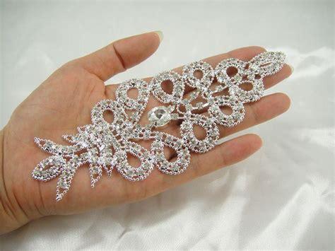 diamante applique rhinestone applique bridal sash applique wedding