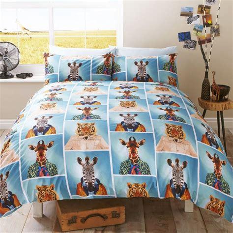 Fun Animal Single Duvet Covers Dogs Elephant Giraffe Giraffe Bedding