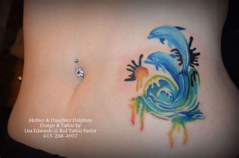 watercolor tattoos dolphin dual dolphin watercolor design by