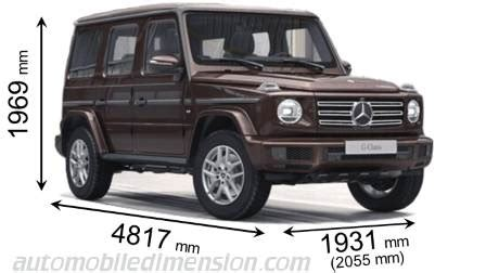 mercedes benz g 2018 dimensions, boot space and interior