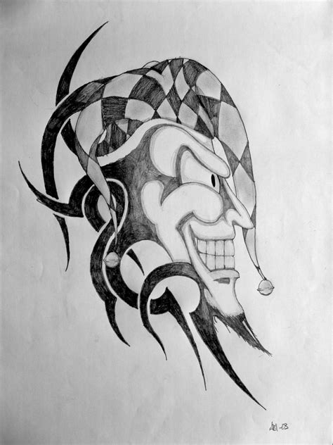 tribal joker tattoo designs tribal joker by pogotheclown on deviantart