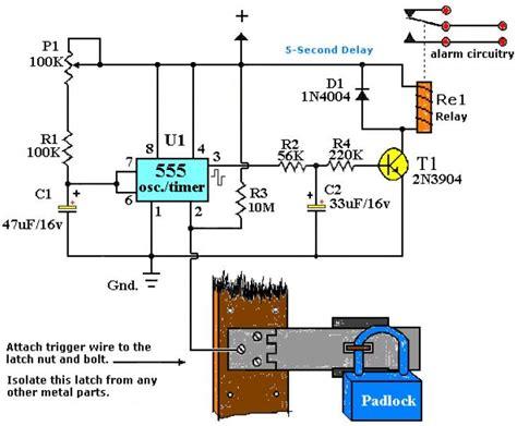 Alarm Motor Sensor Sentuh rangkaian saklar sentuh dengan ic 555