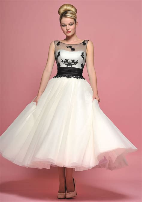 6 Of The Best Black White Inspired Dresses by 27 Inspiring Ideas Of Tea Length Wedding Dresses The