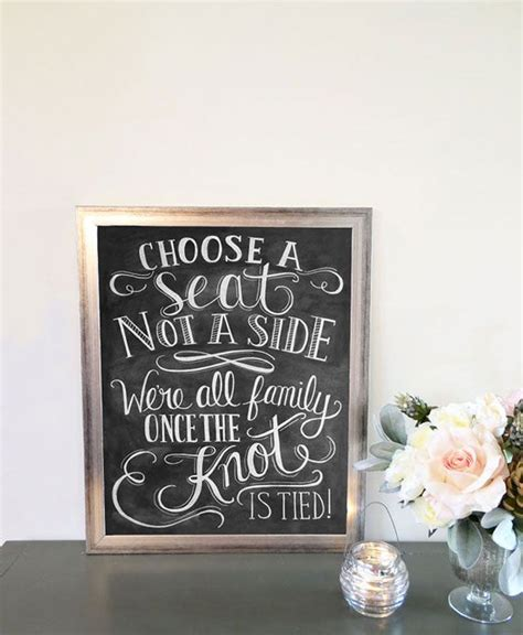 Wedding Quotes A Seat Not A Side by Wedding Signs And Quotes Quotesgram