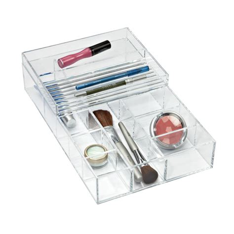 container store jewelry storage large stacking acrylic trays the container store