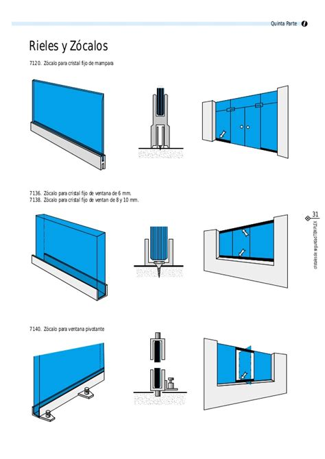 zocalo ventana 5 accesorios para vidrio templado