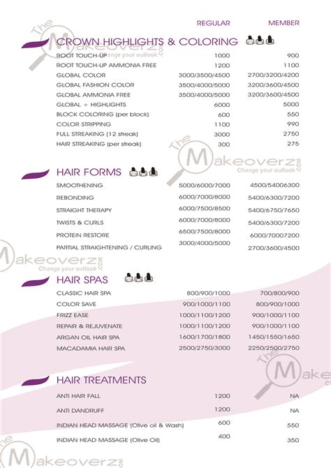 haircut price list haircut price list image collections haircut ideas for