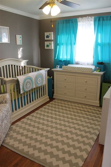 gray and turquoise room turquoise the and elephant nursery on