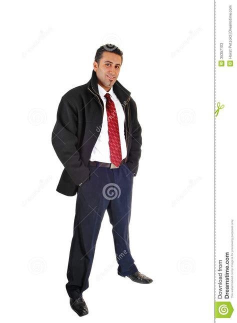 black tall standing l man in black coat stock photos image 35357103